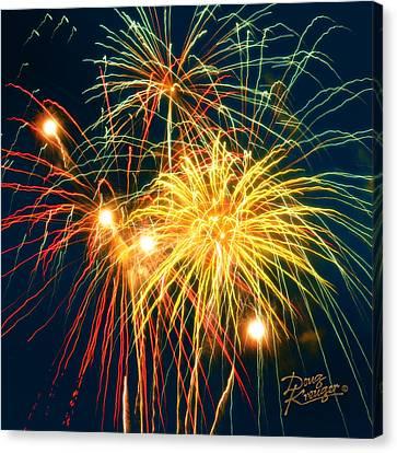 Fireworks Finale Canvas Print