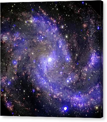 Fireworks Galaxy Canvas Print