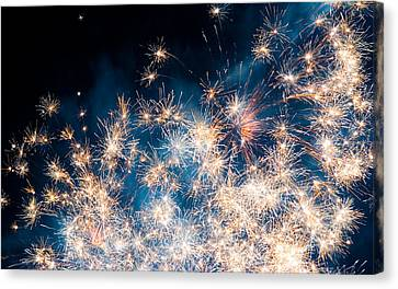 Fireworks Canvas Print - Fireworks In The Sky by Gianfranco Weiss