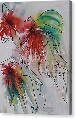Fireworks Canvas Print by Nancy Gebhardt