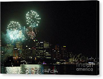 Fireworks - Navy Centenary. Canvas Print