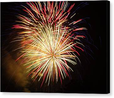 Canvas Print featuring the photograph Fireworks Over Chesterbrook by Michael Porchik
