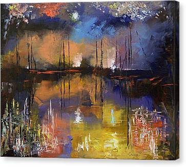 Fireworks Display Canvas Print by Michael Creese