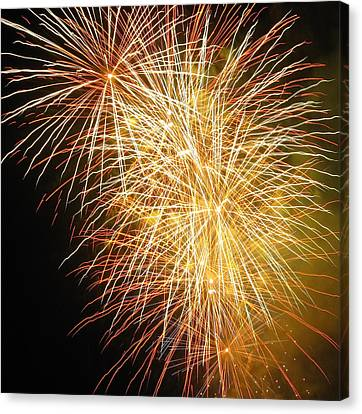 Canvas Print featuring the photograph Fireworks by Ramona Johnston