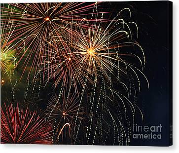 Fireworks - Royal Australian Navy Centenary 2 Canvas Print