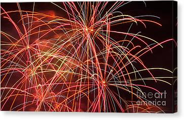 Fireworks - Royal Australian Navy Centenary 3 Canvas Print