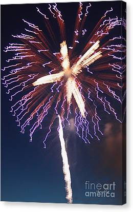 Fireworks Series Xii Canvas Print by Suzanne Gaff