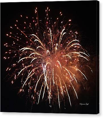 Fireworks Series Xv Canvas Print by Suzanne Gaff