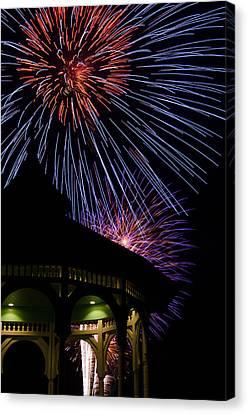 Fireworks Canvas Print by Steve Myrick