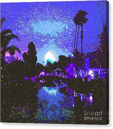 Fireworks Venice California Canvas Print by Jerome Stumphauzer