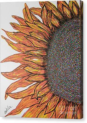 Firey Sunflower Canvas Print