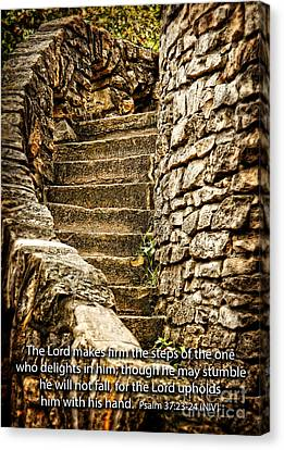 Firm Are The Steps Canvas Print by Lincoln Rogers