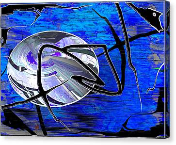 Firmament Cracked #6 - Veneers Canvas Print by Mathilde Vhargon