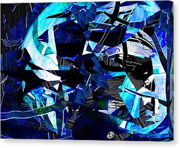 Firmament Cracked #9 - All Which Once Was Beautiful Canvas Print by Mathilde Vhargon