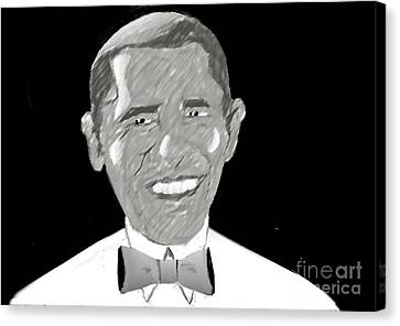 First African American President Canvas Print by Belinda Threeths