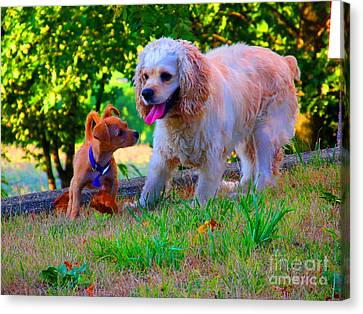First Anniversary Image Angel And Chika Canvas Print by Tina M Wenger