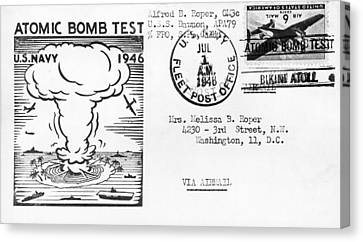 First Atomic Bomb Test Canvas Print by Underwood Archives