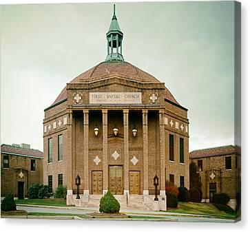 First Baptist Church Of Asheville North Carolina Canvas Print