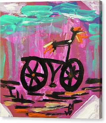 First Bike Canvas Print