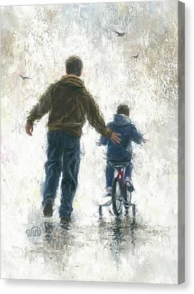 First Bike Ride Canvas Print