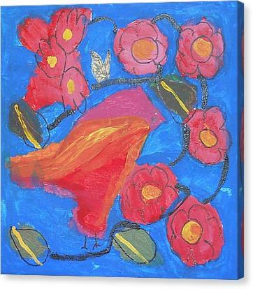 Canvas Print featuring the painting First Bird by Artists With Autism Inc