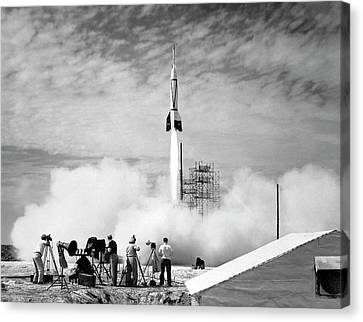 First Cape Canaveral Rocket Launch Canvas Print