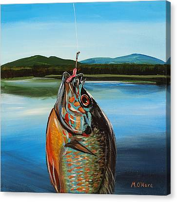First Catch Canvas Print