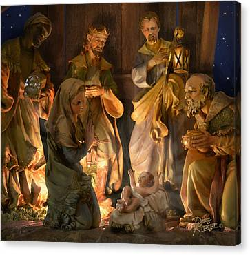 First Christmas Canvas Print by Doug Kreuger