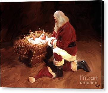 First Christmas Canvas Print by Mark Spears