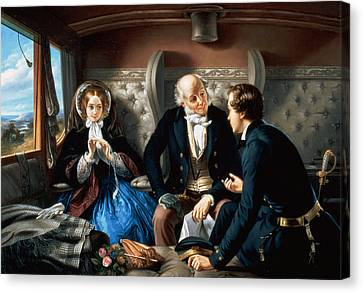 First Class - The Meeting Canvas Print by Abraham, Solomon
