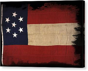 First Confederate Flag Canvas Print by Daniel Hagerman