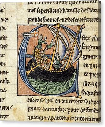 First Crusade, 11th Century Canvas Print by British Library