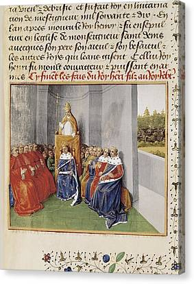 First Crusade. Council Of Clermont Canvas Print by Everett