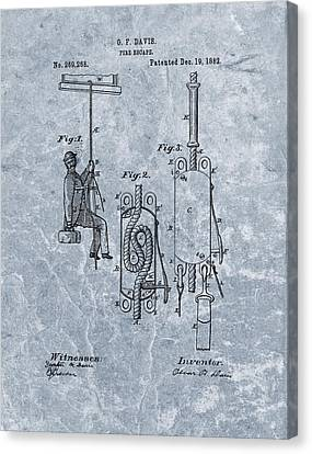 Fire Escape Canvas Print - First Fire Escape Patent by Dan Sproul