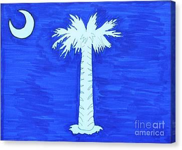 First Flag Of So. Carolina Canvas Print by Bill Hubbard