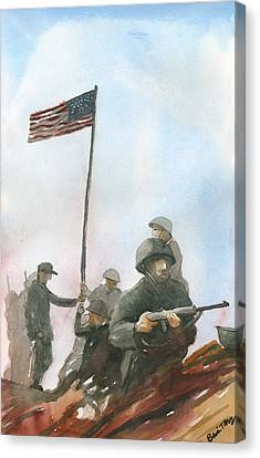First Flag Over Iwo Jima Canvas Print
