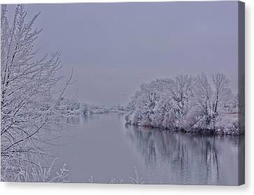 Canvas Print featuring the photograph First Frost by Lynn Hopwood