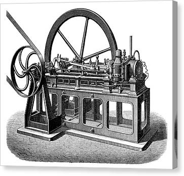 First Gas Engine Canvas Print by Science Photo Library