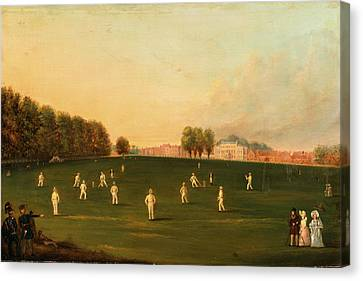 First Grand Match Of Cricket Played By Members Of The Royal Canvas Print