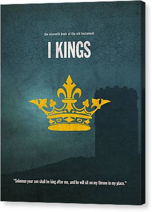 First Kings Books Of The Bible Series Old Testament Minimal Poster Art Number 11 Canvas Print