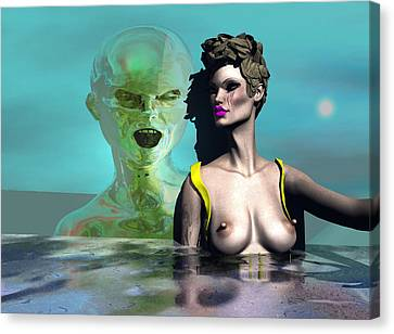 First Kiss 500 Canvas Print by Stephen Donoho