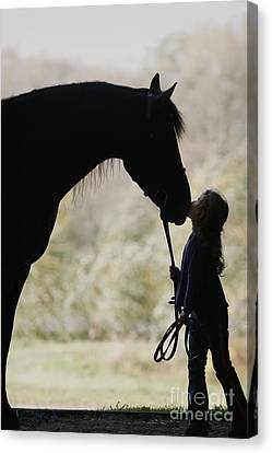 First Kiss Canvas Print