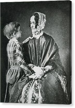 First Lady Jane Pierce With Son Benjamin Canvas Print