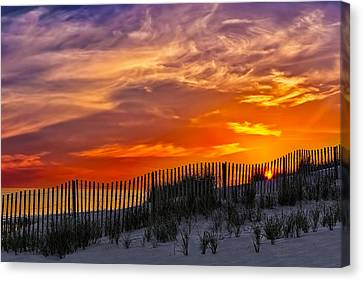 First Light At Cape Cod Beach  Canvas Print by Susan Candelario