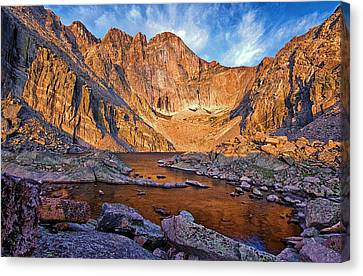 First Light At Chasm Lake Canvas Print by Brian Kerls