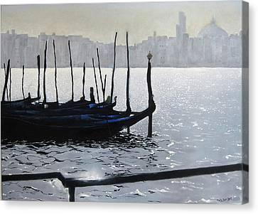 First Light Dorsoduro Canvas Print by Martin Davis