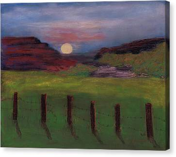 Canvas Print featuring the painting First Light by J Cheyenne Howell