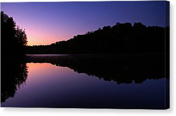 First Light On Shanty Hollow Canvas Print by Keith Bridgman