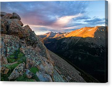 First Light On The Mountain Canvas Print