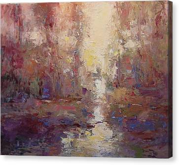 First Light On The Tule River Canvas Print by R W Goetting
